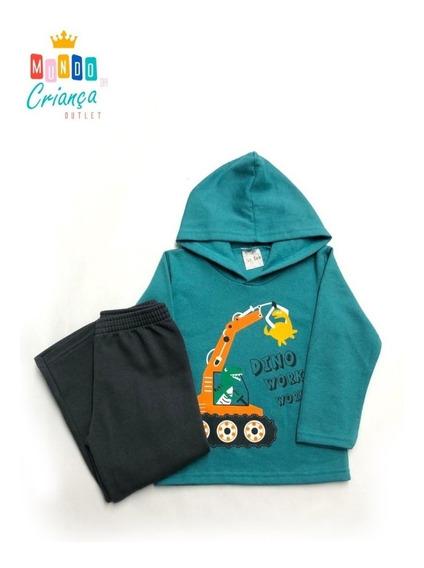 Conjunto Infantil Calça E Camisa Moletom Masculino Outlet