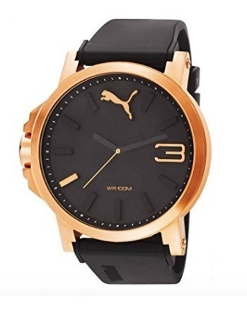 Reloj Puma Deportivo Negro Con Bronce