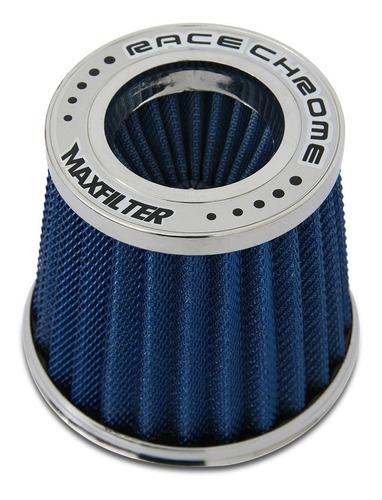 Imagem 1 de 6 de Filtro De Ar Esportivo Duplo Fluxo Aluminio Maxfilter Azul