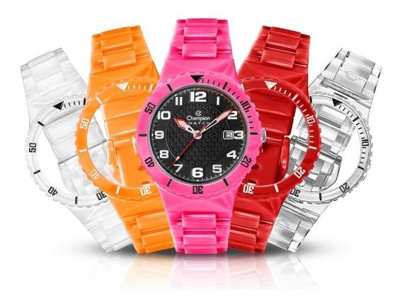Relógio Champion Cp30819o Troca Pulseiras Exclusivo
