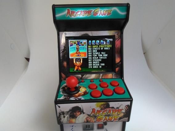 Mini Fliperama Arcade Com 156 Jogos 16bits