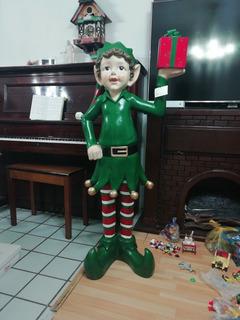 Duende De Navidad Gigante Ayudante De Santa Claus Adorno Nav