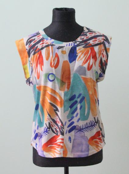 Original Remera Marca Zara Colorida Verano Primavera - Envio