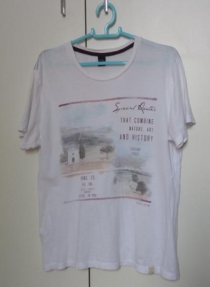 Camiseta Masculina Hering P Tam 16 Branca Roupa
