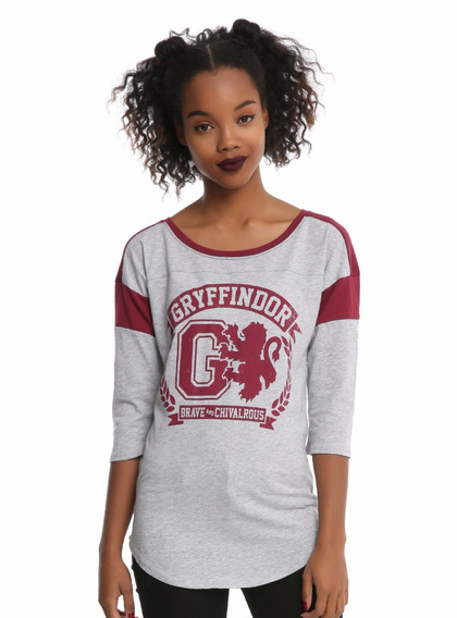 Blusa Harry Potter Gryffindor Atletic Raglan 3/4