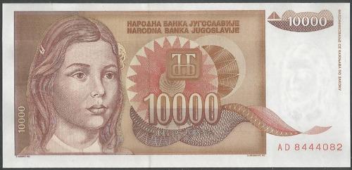 Imagen 1 de 2 de Yugoeslavia 10.000 Dinara 1992 P116a