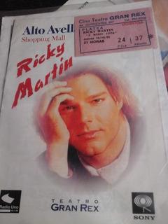 Entrada Ricky Martin Gran Rex 1995 +revista Coleccion