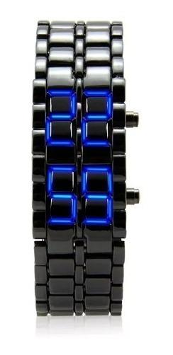 Lote 10 Reloj Iron Samuray Metalico Azul Caballero Asiatica