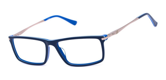 Armação Oculos Ogrife Og 1745-c Masculino Com Lente Sem Grau