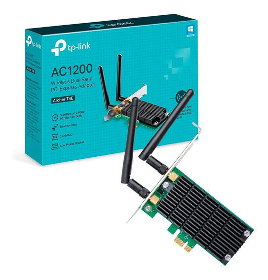 Placa Wifi Red Pci-e Tp-link Archer T4e Ac1200 Dual Band