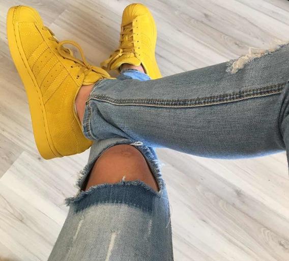 Tênis Superstar Amarelo