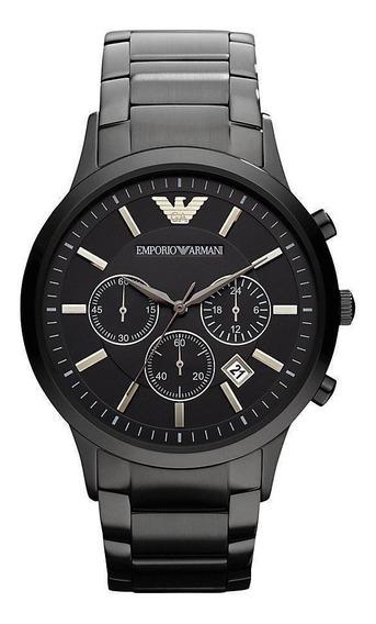 Relógio Empório Armani Ar2453 Original Eua Black Cronógrafo