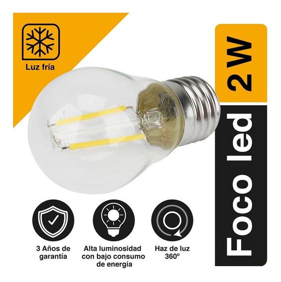 Foco De Led 360 2w 6500 K G45 Luz Fría Tipo Bulbo Sanelec
