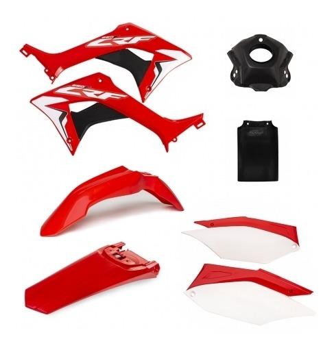 Kit Carenagens Crf 250f Vermelho/branco Amx