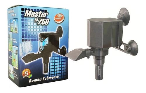 Bomba Submersa Master 750 L/h Aquários Lagos Fontes Filtro