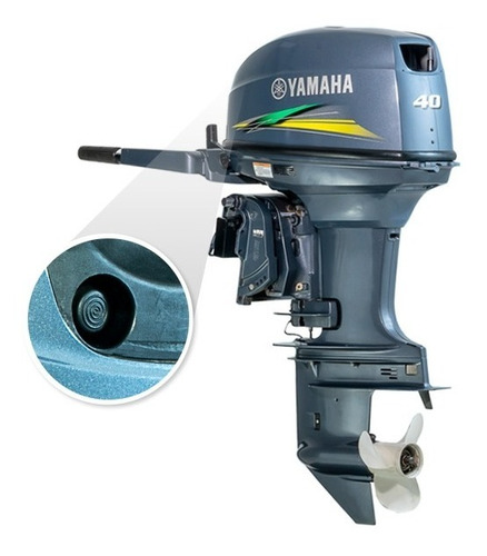 Imagem 1 de 8 de Motor De Popa Yamaha 40 Awhs Part Eletrica Com Manche