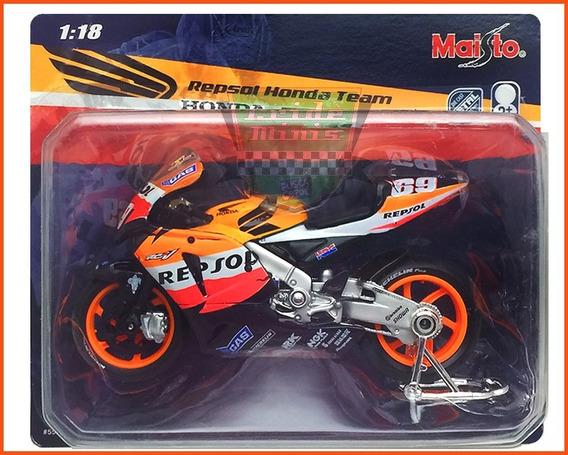 Miniatura Moto Gp Honda Repsol Escala 1.18 Lacrada Raro