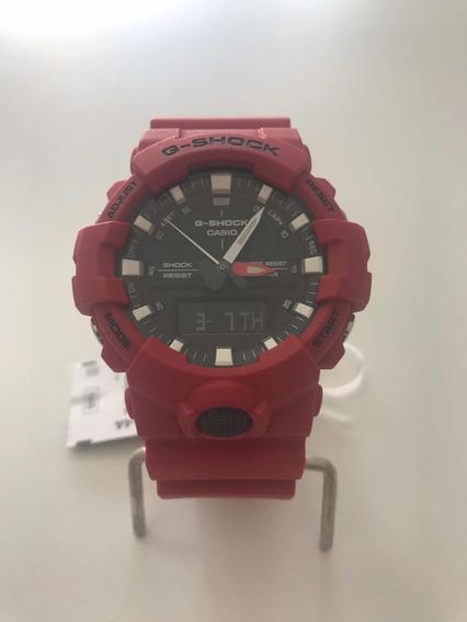 Relógio Cássio G-shock Ga 800-4a Vermelho