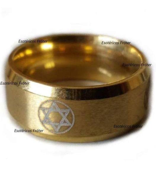 Anel Hexagrama Rei Salomão Amuleto Sagrado