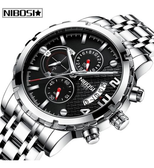Relógio Nibosi 2368 Aço Inox Blindado À Prova D