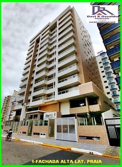 Apartamento 2 Dormitórios Para Venda Em Praia Grande, Ocian, 2 Dormitórios, 1 Suíte, 1 Banheiro, 1 Vaga - Ap00008