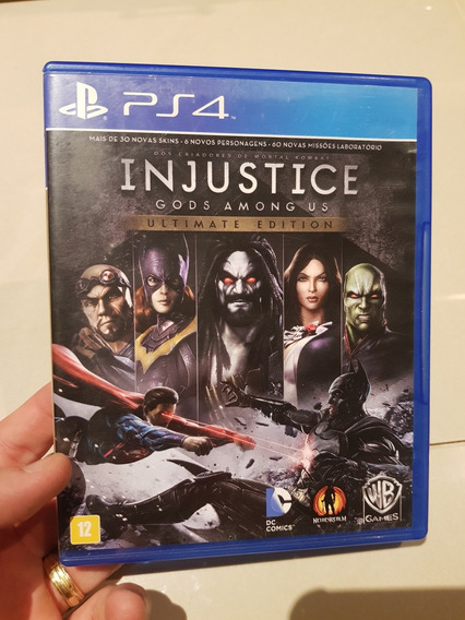 Injustice Ultimate Edition Ps4 Midia Fisica Excelente