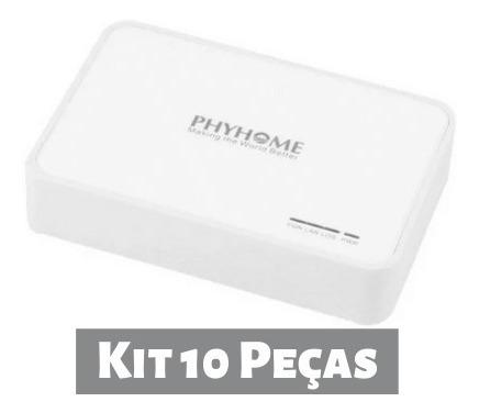 Kit 10 Peças Onu Gpon Phyhome Bridge/router (fhr2100gzb)