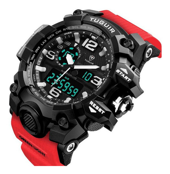 Relógio Tuguir Tg1155 Masculino Anadigi Resistente Original