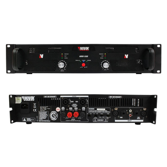 Amplificador 2500 Rms 2 Canais Profissional Novik Neo Modelo