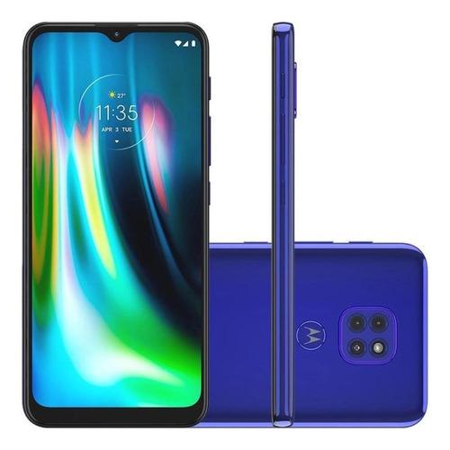 Celular Moto G9 Play 64gb 4gb Ram Câm Tripla Tela 6.5  Azul
