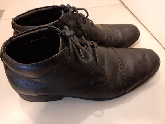 Bota Sapato Couro Democrata -41 Pouco Uso
