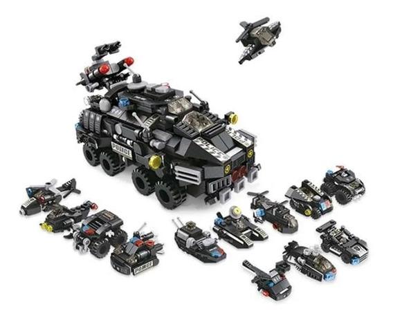 Lego Policia Swat 12 Em 1 Blocos De Montar Cubic 572 Peças
