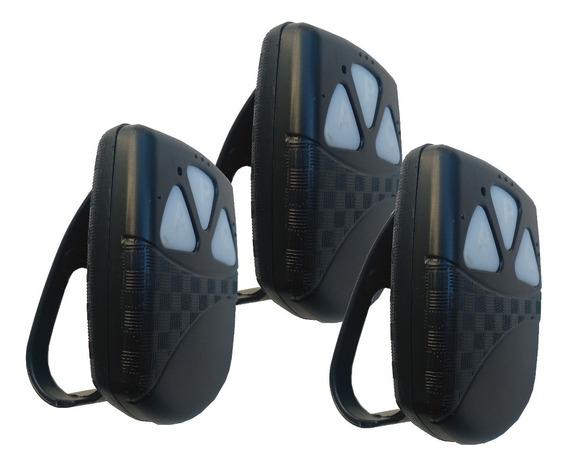 3 Controles Remotos 433 Tx Black Tango Para Portão E Alarmes