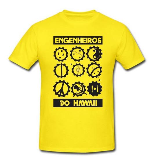 Camiseta Banda Engenheiros Do Hawaii Rock Símbolos Camisa