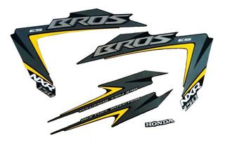 Kit Faixa Adesivo Bros Nxr 150 Mix Es Preta 2012
