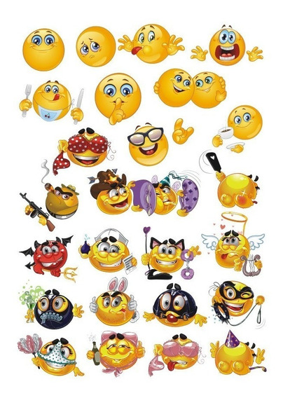 Emojis Vectores + Adultos Tazas Remeras Frascos Sublimación