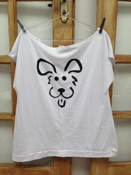 Camiseta/ Baby Look Estampa Cachorro Fofo