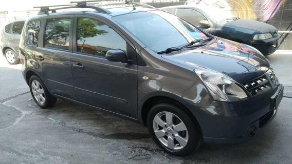 Nissan Livina Sl 1.8 Flex Aut Cinza Bx Km Bco Couro