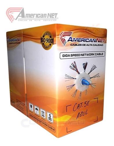 Cable De Red Utp Cat. 5e America Net Caja De 305 Mts Colores