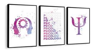 Quadro Decorativo Psicologia Frase Figura Colorido Profissão
