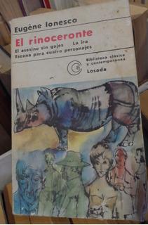 Libro El Rinoceronte Y Otras Obras Teatrales Eugéne Ionesco
