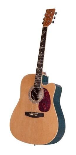 Guitarra Parquer Acústica Master Azul Flameada