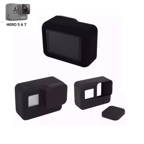 Capa Case Protetora Silicone Para Câmera Gopro Hero 5