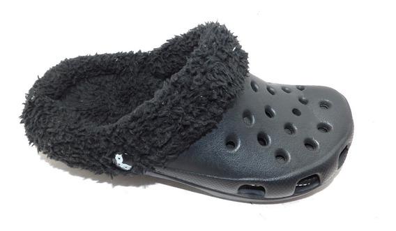 Zueco Simil Crocs Con Corderito - Calzados Union-