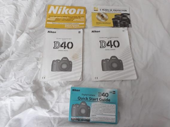 Camera Fotografica Nikon D40 + Lente Dx 18-55mm