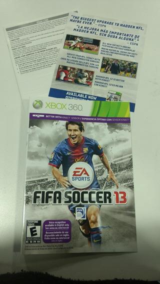 Encarte Do Jogo Fifa 13 Para Xbox 360 Original.