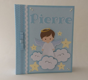 Album Livro Do Bebê Personalizado Scrapbook Anjinho