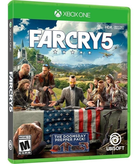 Jogo Farcry 5 Xbox One Disco Físico Cd Lacrado Português