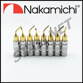 4 Plug Conector Banana Pin Pino 2mm Nakamichi Receiver Caixa