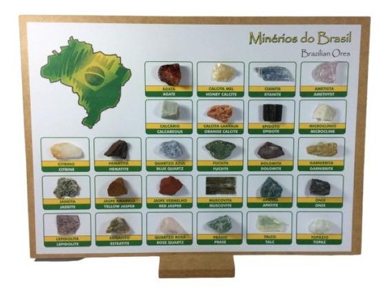 Coleção Minerais E Rochas Do Brasil - 26 Amostras Promoção